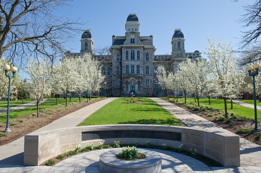 The Hall of Languages is home to Syracuse's College of Arts and Sciences.