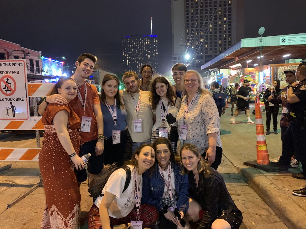 Bandier students attending SXSW Music Festival and Conference in Austin, TX.