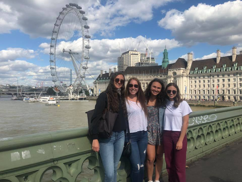 Bandier students taking in the sights during a semester away in London.