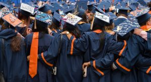 Syracuse University students on graduation day