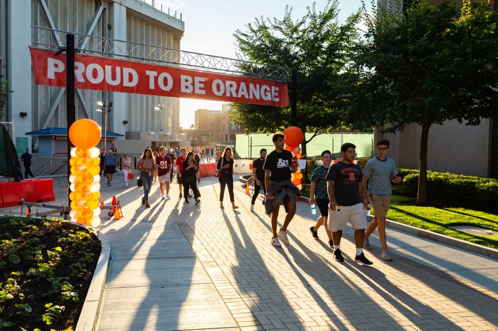 Students at Syracuse Welcome, the University's new student orientation program.