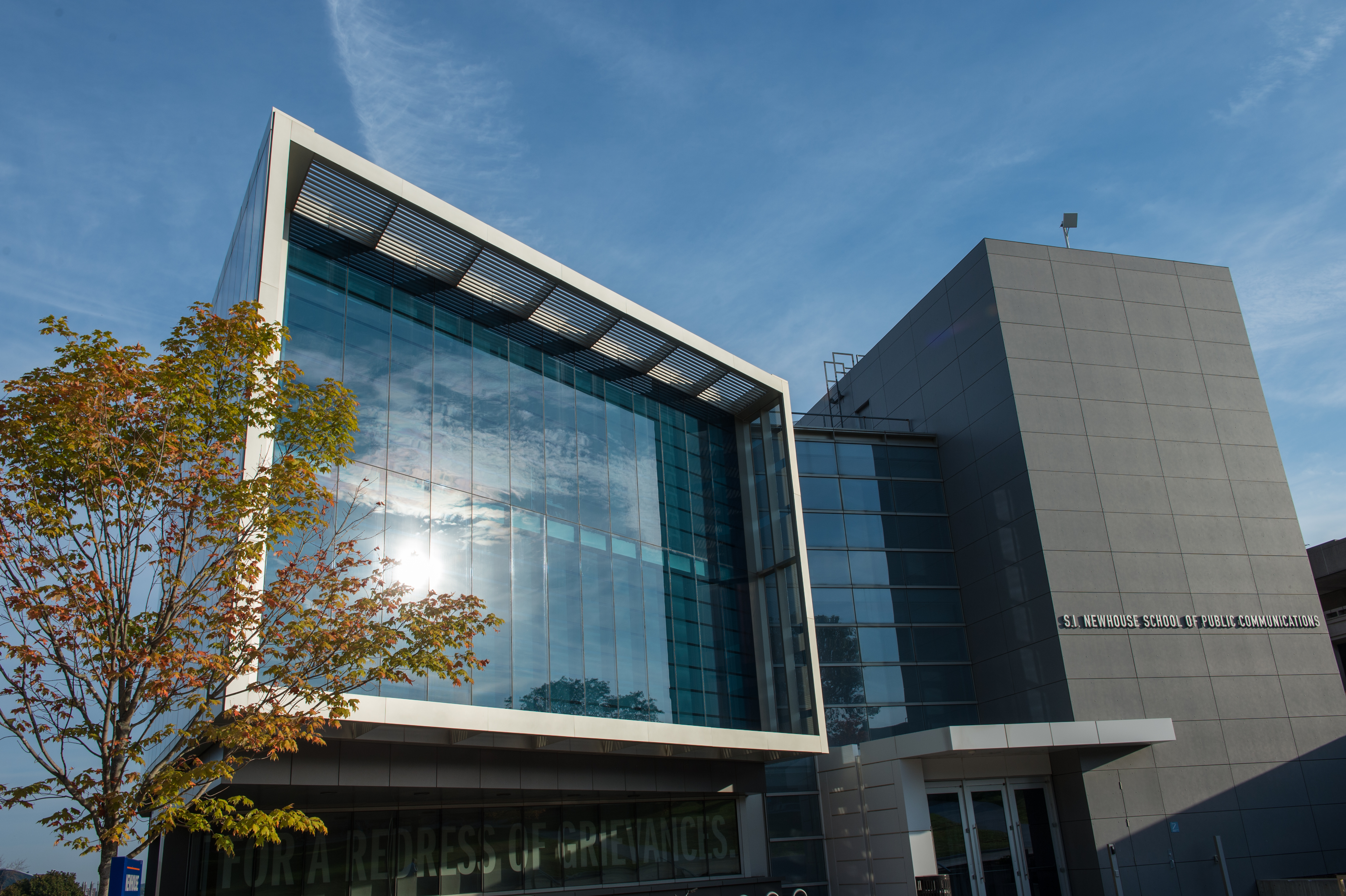 The S.I. Newhouse School of Public Communications.