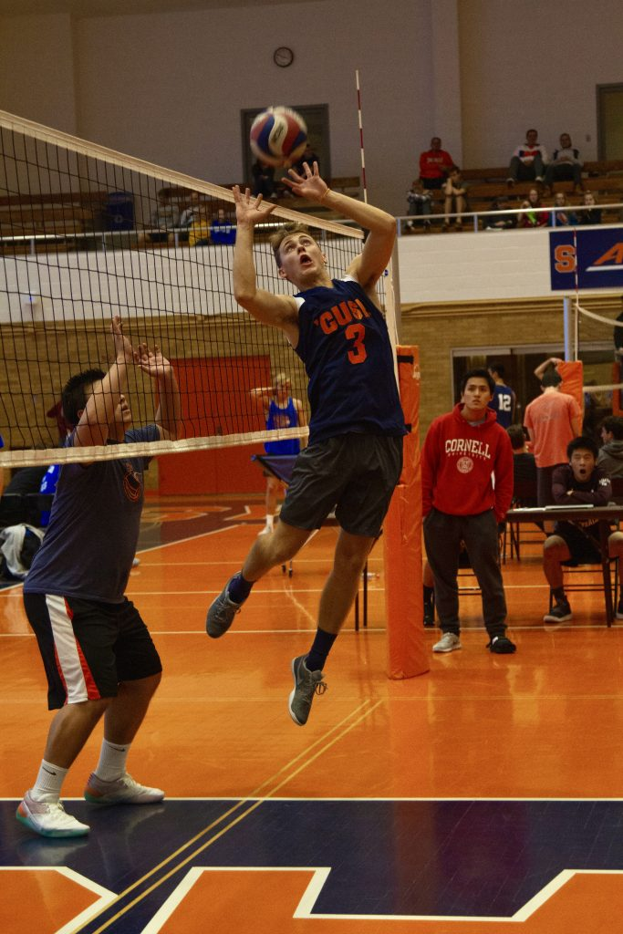 Seth '21 is a member of the Men's Club Volleyball team. Photo courtesy of Seth Reed.