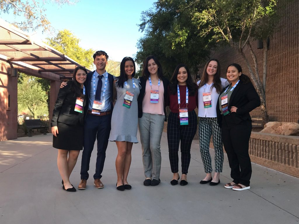 Edgardo '21 and fellow Syracuse University SHPE members at the 2019 SHPE National Convention in Phoenix, AZ.