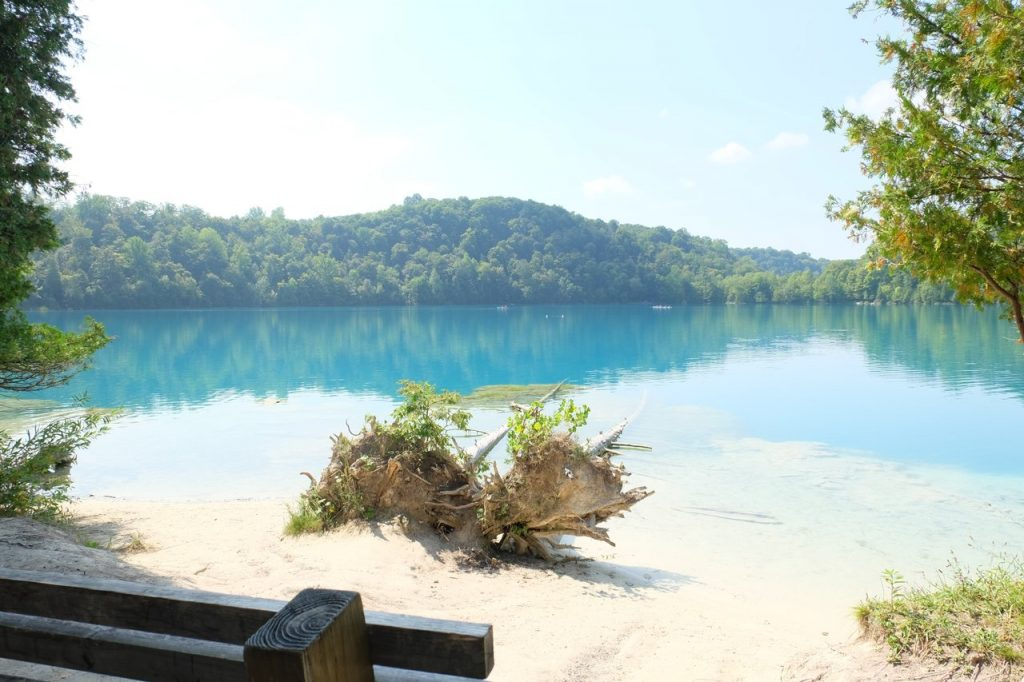 Green Lakes State Park is home to hiking trails, disc golf and a swimming beach. Photo courtesy of VisitSyracuse.com